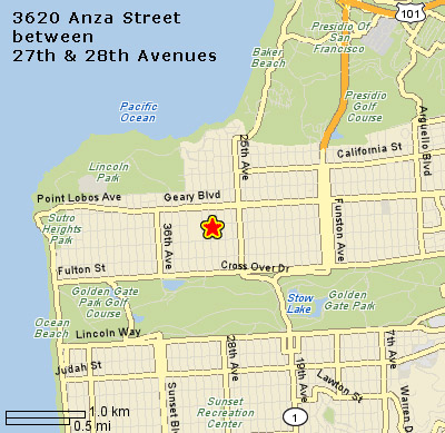 map to Anza Street office