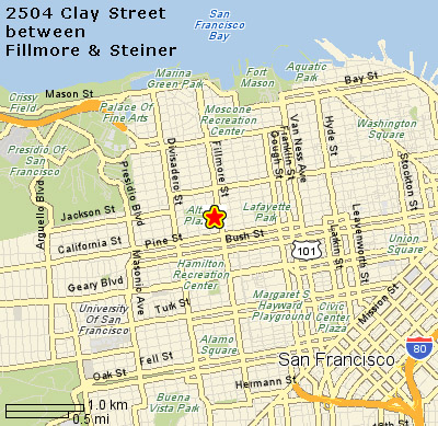 map to Clay Street office